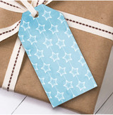 Blue Stars Christmas Gift Tags