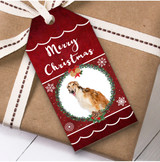 Borzoi Dog Christmas Gift Tags
