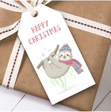 Cute Sloth Christmas Gift Tags