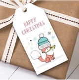 Doodle Fox Christmas Gift Tags