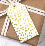 Gold Spots Christmas Gift Tags