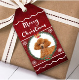 Poodle Dog Christmas Gift Tags