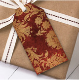 Red & Gold Christmas Gift Tags