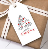 White Tree Christmas Gift Tags