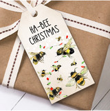 Funny Bee Christmas Gift Tags