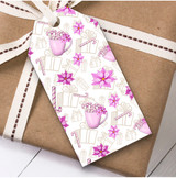 Pink Cups Christmas Gift Tags
