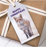Snowy Fox Christmas Gift Tags