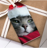 Cat Face Christmas Gift Tags
