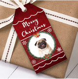 Pug Dog Christmas Gift Tags