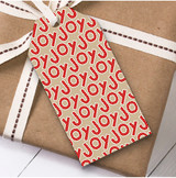 Red Joy Christmas Gift Tags