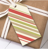 Stripes Christmas Gift Tags