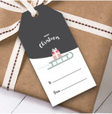 Sleigh Christmas Gift Tags