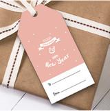 Coral Christmas Gift Tags