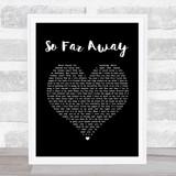 Avenged Sevenfold So Far Away Black Heart Song Lyric Quote Print