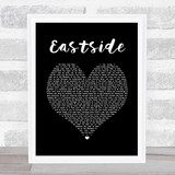 benny blanco, Halsey & Khalid Eastside Black Heart Song Lyric Quote Print