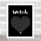Billie Eilish Watch Black Heart Song Lyric Quote Print