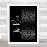 Garth Brooks The River Black Script Song Lyric Quote Print