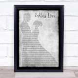 Lionel Richie & Diana Ross Endless Love Man Lady Dancing Grey Song Lyric Quote Print
