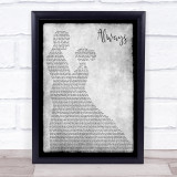 Atlantic Starr Always Man Lady Dancing Grey Song Lyric Quote Quote Print
