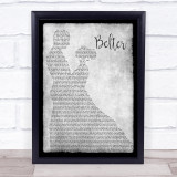 Gerry Cinnamon Belter Man Lady Dancing Grey Song Lyric Quote Quote Print