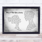 Rod Stewart Have I Told You Lately Man Lady Couple Grey Song Lyric Quote Quote Print