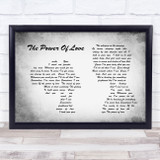 Celine Dion The Power Of Love Man Lady Couple Grey Song Lyric Quote Quote Print