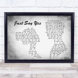 Snow Patrol Just Say Yes Man Lady Couple Grey Song Lyric Quote Quote Print