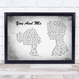 Dave Matthews Band You And Me Man Lady Couple Grey Song Lyric Quote Print