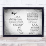 Lighthouse Family High Man Lady Couple Grey Song Lyric Quote Quote Print