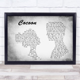 Catfish And The Bottlemen Cocoon Man Lady Couple Grey Song Lyric Quote Print