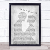 Tom Grennan Found What I've Been Looking For Man Lady Bride Grey Song Quote Print