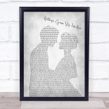 Jefferson Starship Nothing's Gonna Stop Us Now Man Lady Bride  Grey Song Quote Print