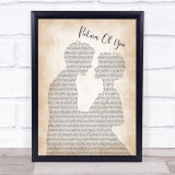 The Cure Pictures Of You Man Lady Bride Groom Wedding Song Lyric Quote Music Framed Print