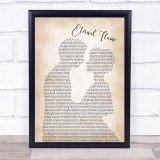 The Bangles Eternal Flame Man Lady Bride Groom Wedding Song Lyric Quote Music Framed Print