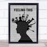 Blink-182 Feeling This Musical Instrument Mohawk Song Lyric Quote Music Framed Print