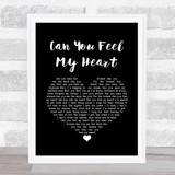 Bring Me The Horizon Can You Feel My Heart Black Heart Song Lyric Quote Music Framed Print