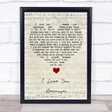Do I Love You Script Heart Song Lyric Print