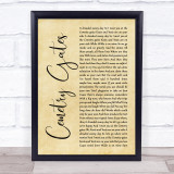 The Smiths Cemetry Gates Rustic Script Song Lyric Quote Music Framed Print