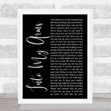 Nick Cave & The Bad Seeds Into My Arms Black Script Song Lyric Quote Music Framed Print