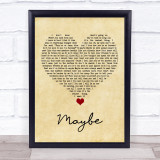 James Arthur Maybe Vintage Heart Song Lyric Quote Music Framed Print