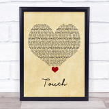 Little Mix Touch Vintage Heart Song Lyric Quote Music Framed Print