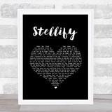 Ian Brown Stellify Black Heart Song Lyric Wall Art Print