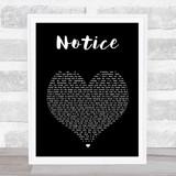 Thomas Rhett Notice Black Heart Song Lyric Wall Art Print
