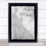 Rod Stewart Mandolin Wind Grey Man Lady Dancing Song Lyric Wall Art Print