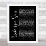 Godsmack Under Your Scars Black Script Song Lyric Music Gift Poster Print