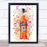 Watercolour Splatter Italian Spritz Bottle Wall Art Print
