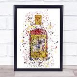 Watercolour Splatter Original Cup Swan Gin Bottle Wall Art Print