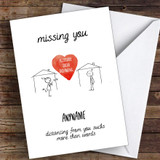Missing You Cute Acceptable Social Distancing Coronavirus Quarantine Card