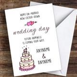 Happy Unmarried Now Locked Down Wedding Day Coronavirus Quarantine Card