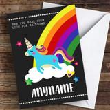 See You Real Soon Jumping Unicorn & Rainbow Coronavirus Quarantine Card